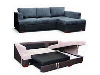 Order now brand new Camden corner sofa bed with massive storage Same Day delivery all over london
