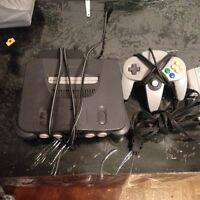 Nintendo 64 with games