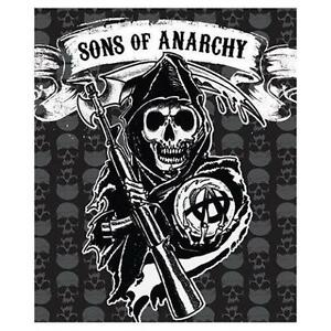 """New Sons of Anarchy Mink Sherpa Throw 50"""" X 60"""" Blanket Official"""