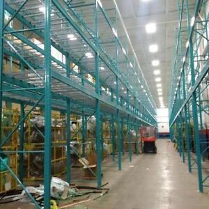 We buy and sell new and used pallet racking and other warehouse equipment. industrial shelving, mesh decks, cantilever,