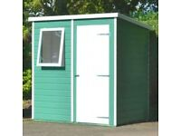 Lovely BRAND NEW Shire Pent 6x4 Shiplap Shed - Free Delivery In Southampton