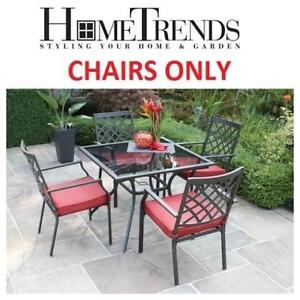 4 NEW HOMETRENDS PATIO CHAIRS FCS70365DST 134303533 MONTCLAIR CHAIRS ONLY SEE COMMENTS DINING FURNITURE