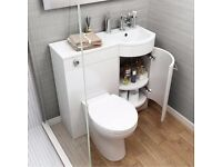 400mm Alexis White Gloss Right Hand Storage Unit