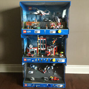 4 LEGO DISPLAYS ** NEW LOW PRICE !!