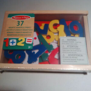 New Wooden Magnetic Numbers and symbols