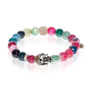 50% OFF All Jewellery - Tantra   Rose Gold Buddha   Multi-Color Faceted Agate Bracelet