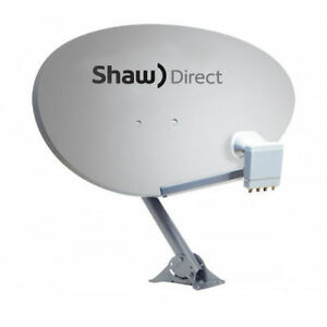 SHAW DIRECT HDTV ELLIPTICAL SATELLITE DISH MODEL 60E XKU