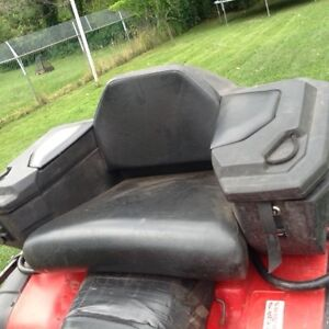 Atv seat and foot pegs