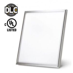 2X2 LED PANEL LIGHT,40W, 50W DIMMABLE DLC (White ,Silver Trim )