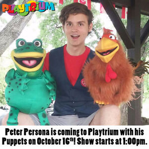 Peter Persona Puppet Show at Playtrium