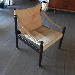 Mid Century Danish Safari Lounge Chair