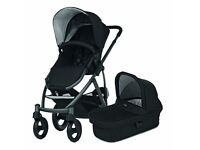 NEW IN BOX BRITAX SMILE from birth with carrycot PRAM PUSHCHAIR BLACK 2 IN 1 0-3 3-6 6-9 9-12