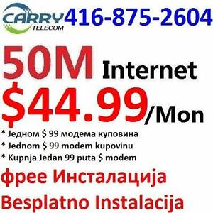 Black Friday sale - FREE install - Unlimited 50M internet plan $44.99/mon,Free static ip, No contract, 7 days money back