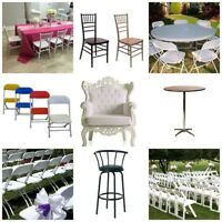 Party /Events - Tables, Chairs Rentals at Cheapest Prices