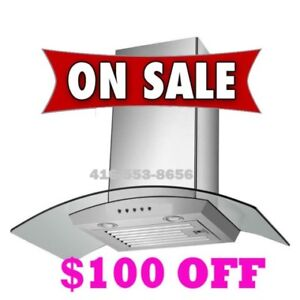 Kitchen wall mount Exhaust fan Range hood on sale for $299