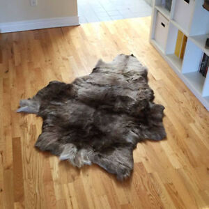 Reindeer rug from Finland - $120