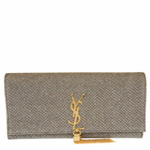 BRAND NEW Yves Saint Laurent Monogram Tassel Kate Clutch NEGO