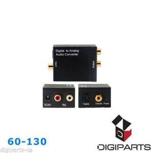 Toslink Optical to Coax/Coaxial Digital Audio Converter