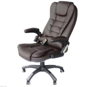 Heated Office Massage Chair / Executive Office Genuine Leather