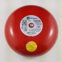 "Lot of 6 - Simplex Fire Alarm 6"" Bell Surface Mount 24 VDC"