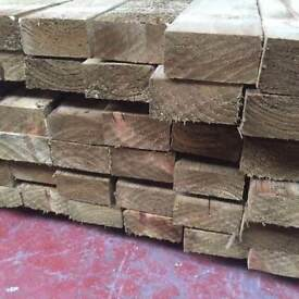 🌟 Pressure Treated Timber (4 x 2) 100mm x 47mm x 3.6m