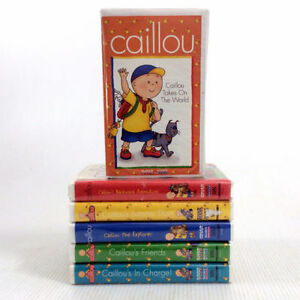 6 Caillou VHS Video Tapes Animated Canadian Cartoon Episodes ++