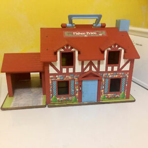 Vintage Fisher Price Little People 1980 Play Family House 952