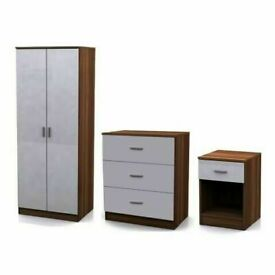 Brand New Furniture -- Bed Room Set Alina 2 Doors Wardrobe In Diff Colors-Fastest Delivery