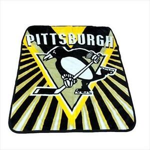 New NHL Ice Hockey Pittsburg Penguin Ultimate Blanket Official