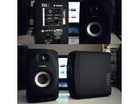 2x Tannoy Reveal 402 Active Studio Reference Monitor Speakers in Great Condition!