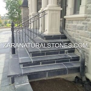 Kota Black Wall Coping Stone Natural Stone Coping Step Treads