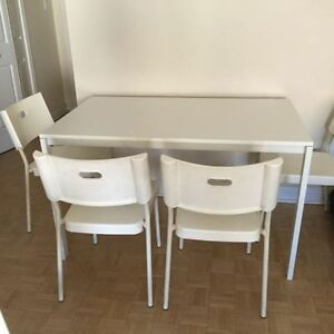 IKEA DINNING TABLE WITH CHAIRS