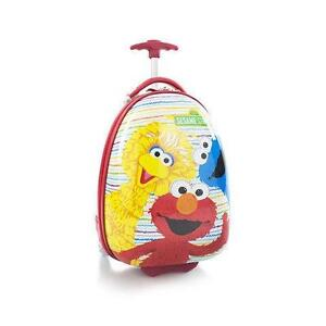 New Sesame Street Kids Hard Shell Luggage Case 2 Wheel Official