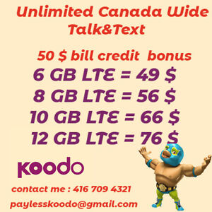 Amazing plans from kood  12 GB, 10 GB, 8 GB  limited time promo