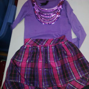 Girls size 6 Outfit _ Tangerine Cambridge Kitchener Area image 1