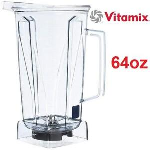 NEW VITAMIX CLEAR 64OZ CONTAINER 001194 224978465 W/BLADE