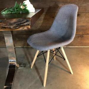 4 Eames Style Grey Fabric Chairs