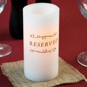 """6"""" White Programmable Flameless Real Wax Pillar Candle"""