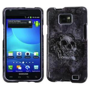 Samsung Galaxy S2 i9100 Gray Skull Hardcover Protector Cover Case
