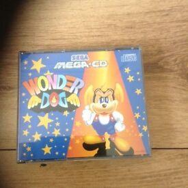 Mega cd game wonder dog rare