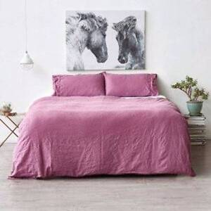 RRP$110 New 100% Linen Queen Quilt Cover Pillow Cover Set Strathmore Moonee Valley Preview