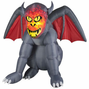 """HALLOWEEN AIRBLOWN / INFLATABLE FIRE AND ICE ""GRUESOME GARGOYLE"