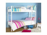 Brand New White Metal Framed Bunk Bed with Mattress ***We sell Quality not Quantity***