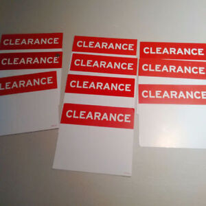 11 Clearance Signs Cambridge Kitchener Area image 1