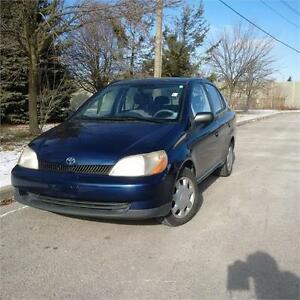 2001 Toyota Echo. 5 Sp/Manual.Gas Miser. Certified & Emissions