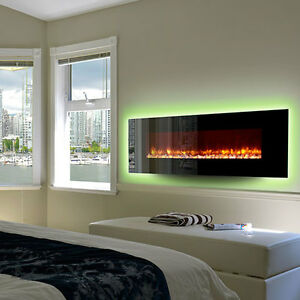 Electric Wall-mounted Fireplace