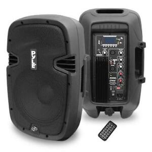 PYLE PPHP1037UB 10'' 700 Watt Powered Two-Way Speaker With MP3/USB/SD/Bluetooth Streaming & Record Function