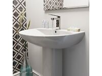Victoria Plumb Basin, Mixer Tap and Waste - NEW