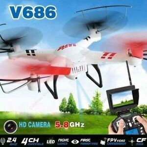 Drone RC Quadcopter Camera WLtoys V686 V686G 5.8G Video FPV