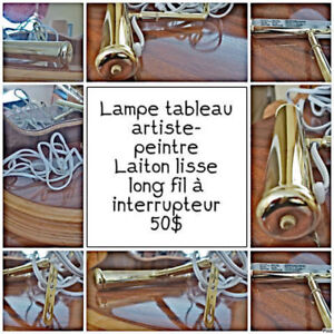 Lampe Brass - Tableau - Chevalet - Toile - Piano - Artiste